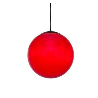 Alternating Current Ballistic 1-light Red 20-inch Ball Pendant