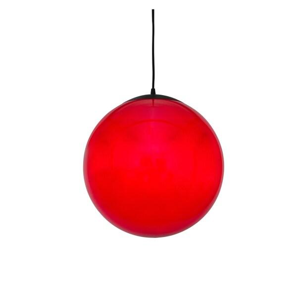 Alternating Current Ballistic 1-light Red 20-inch Ball Pendant