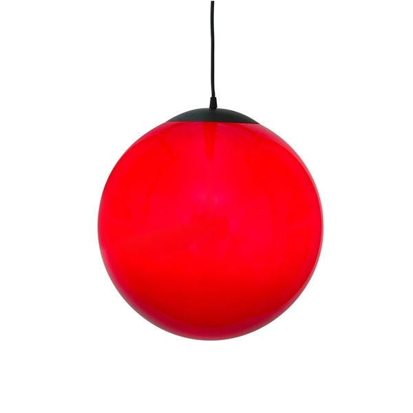 Alternating Current Ballistic 1-light Red 16-inch Ball Pendant