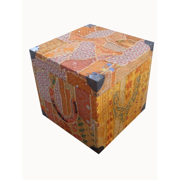 Kosas Home Patchwork Wooden Box