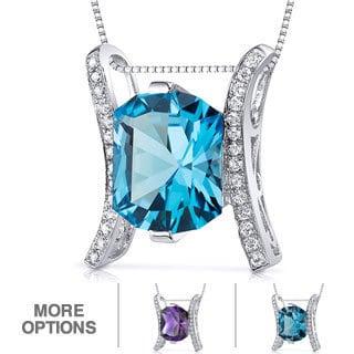 Oravo Sterling Silver Prince Gemstone Pendant Necklace