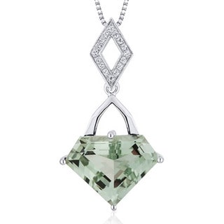 Sterling Silver 'Superman' Cut Gemstone Necklace