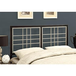 Black/ Silver Queen/ Full-size Versatile Headboard