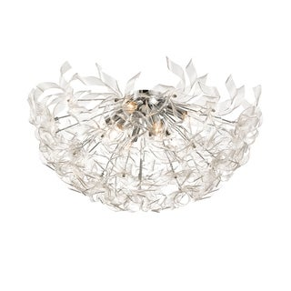Alternating Current Clearvoyant 8-light Chrome Semi-flush Fixture
