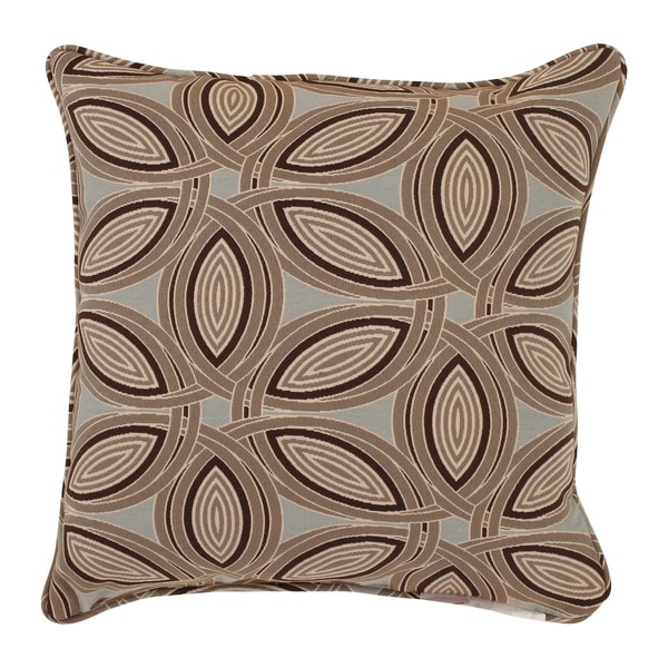 Lunar 18-inch Corded Throw Pillow in Brown
