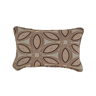 Lunar Rectangular Corded Throw Pillow in Brown