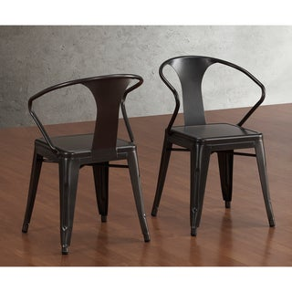 Tabouret Charcoal Grey Stacking Chairs (Set of 4)