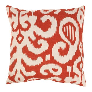 Pillow Perfect Fergano 18-inch Throw Pillow in Flame