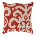 'Fergano' Red Square Throw Pillow