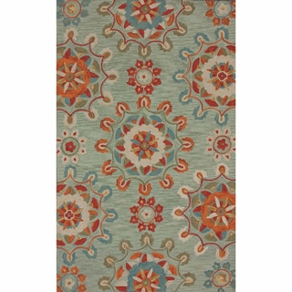 nuLOOM Handmade Suzanni Light Blue Rug (5' x 8')