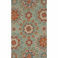 nuLOOM Handmade Suzanni Light Blue Rug (7'6 x 9'6)