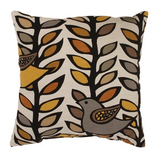 'Trixie' Gold/ Black Square Throw Pillow