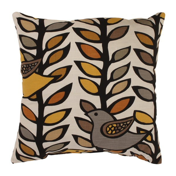 'Trixie' Gold/ Black Square Throw Pillow