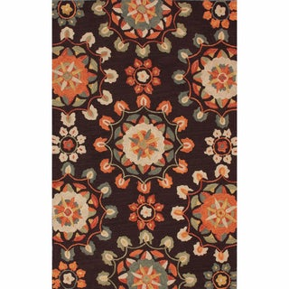 nuLOOM Handmade Suzanni Brown Rug (7'6 x 9'6)