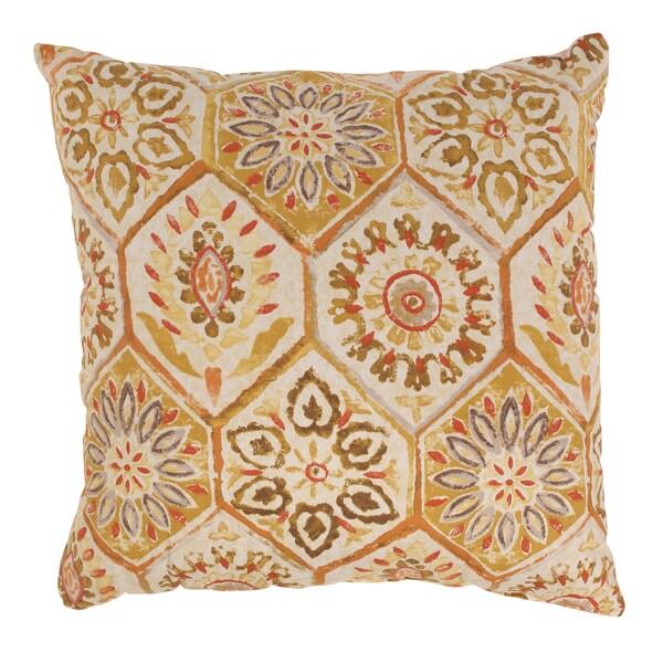 Summer Breeze 23-inch Floor Pillow in Gold