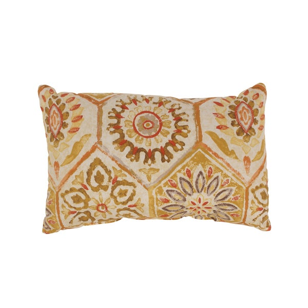 Summer Breeze Rectangular Throw Pillow in Gold