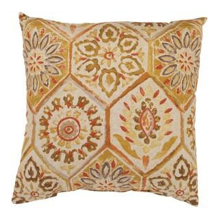 Summer Breeze 18-inch Throw Pillow in Gold