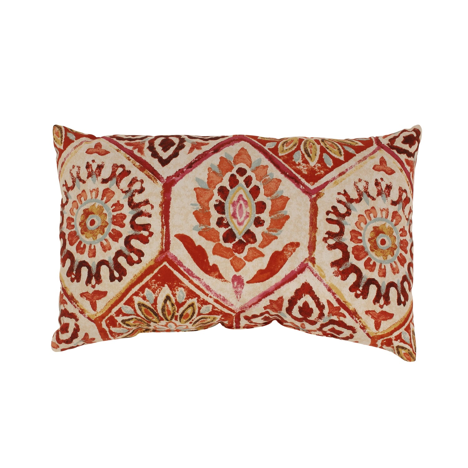 Summer Breeze Rectangular Throw Pillow in Crimson