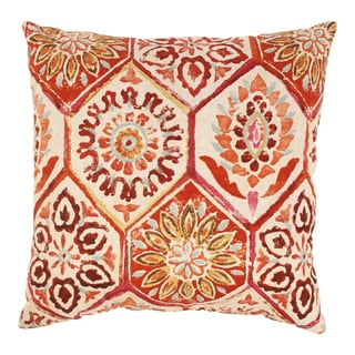 Summer Breeze 18-inch Throw Pillow in Crimson