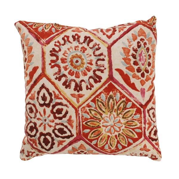 Summer Breeze 16.5-inch Throw Pillow in Crimson