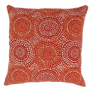 'Mosaic' Red 23 Decorative Throw Pillow