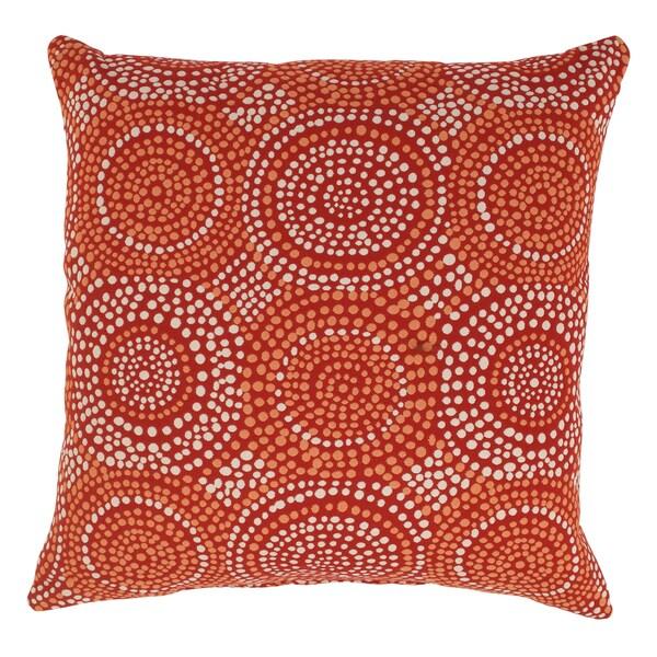 'Mosaic' Red 23 Decorative Throw Pillow