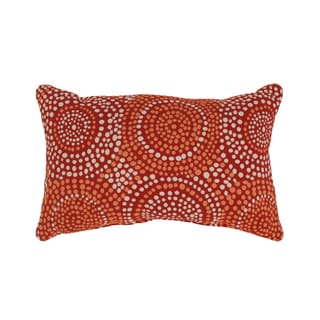 'Mosaic' Red Rectangular Throw Pillow
