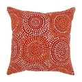 'Mosaic' Red 18-inch Sqaure Throw Pillow