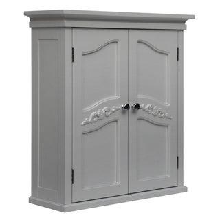 yvette white 2 door wall cabinet overstock shopping