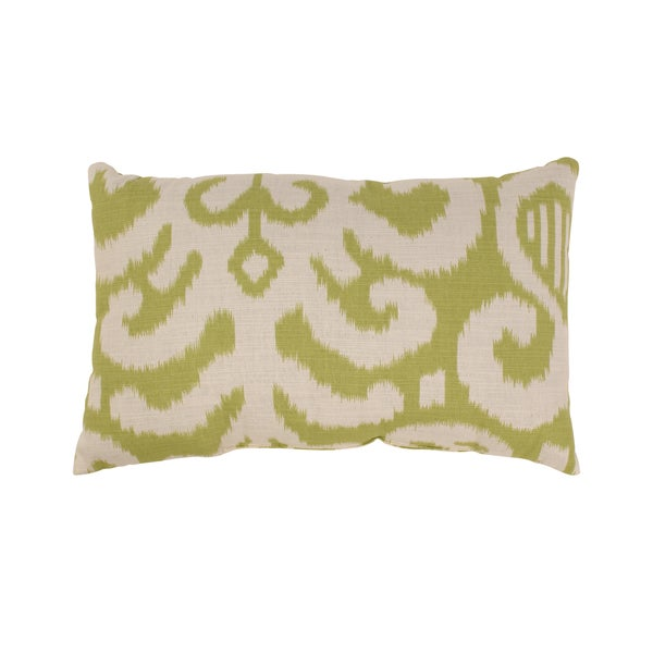 Pillow Perfect Fergano Rectangular Throw Pillow in Lime