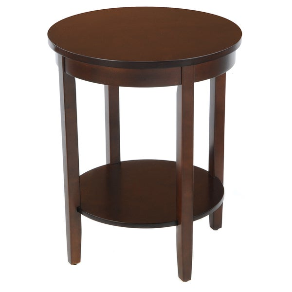 Bianco Collection Espresso Round Accent Table