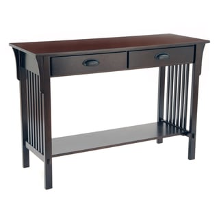 Bianco Collection Mission Espresso Sofa/ Console Table