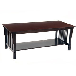 Bianco Collection Mission Espresso Coffee Table