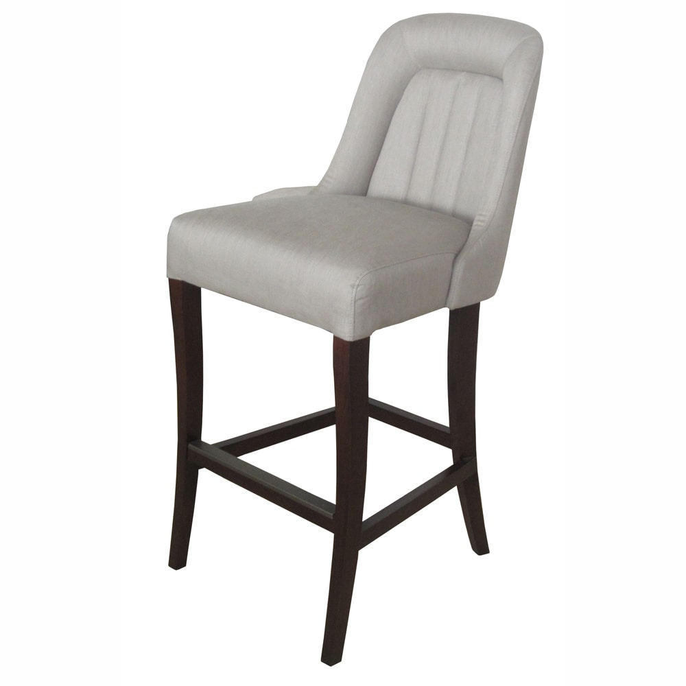 nuLOOM Hand-upholstered Linen Bar Stool