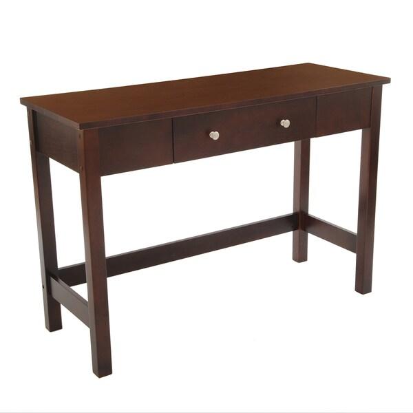 Bianco Collection Espresso Sofa/ Console Table