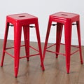 Zara Red Steel Counterstools (Set of 2)
