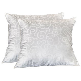 Candice Olson 300 Thread Count Down Alternative European 28-inch Square Pillows (Set of 2)