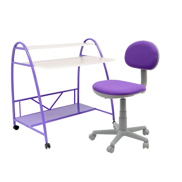 Studio Designs Purple 2-Piece Arc Center Children's Desk