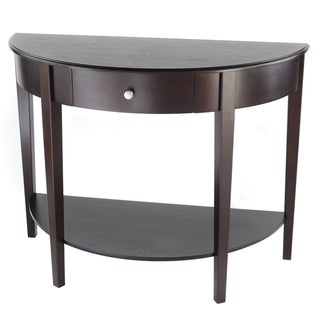 Bianco Collection Large Half Moon Espresso Hall Table