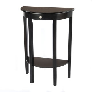 Bianco Collection Black Half Moon Round Hall Table