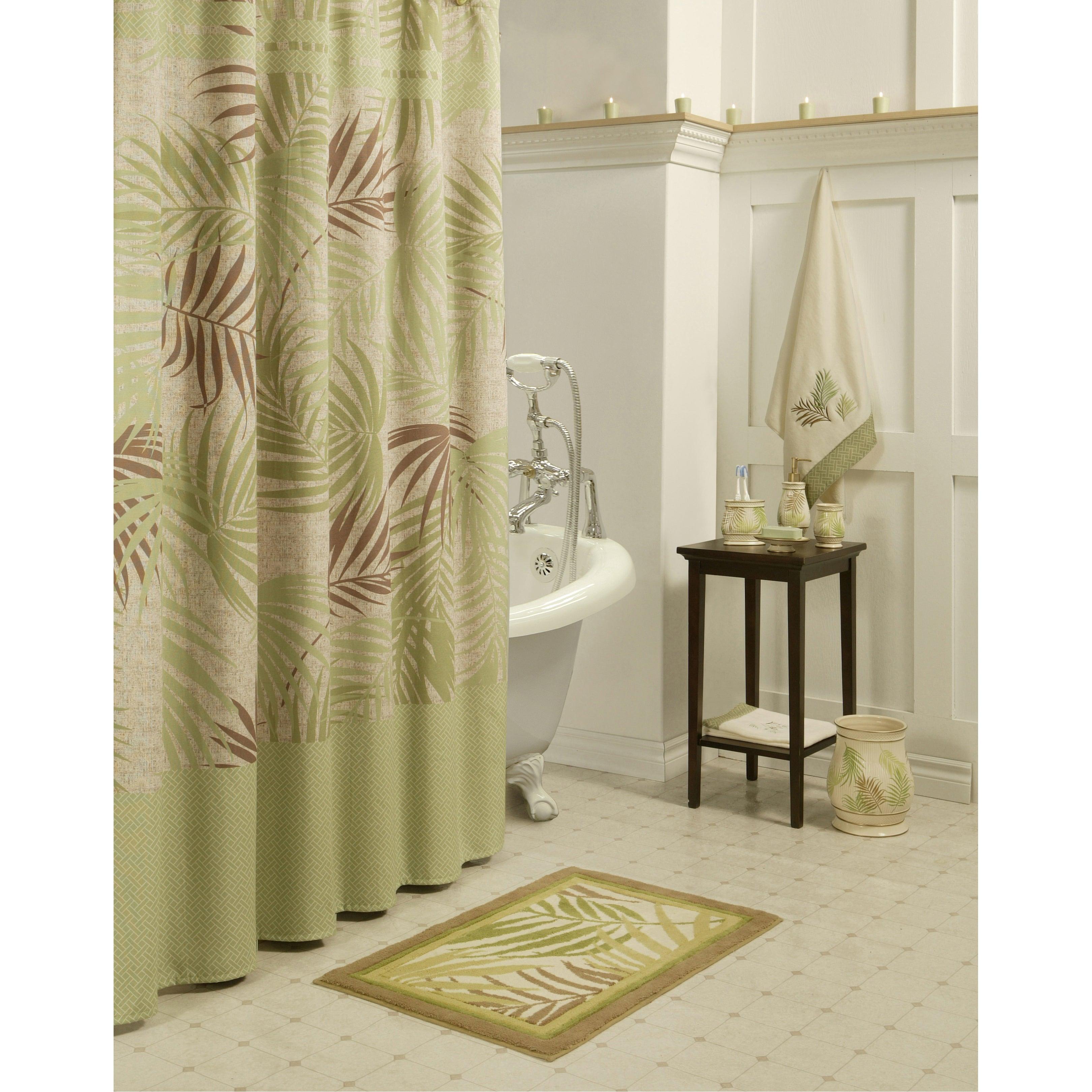 Sherry Kline Sago Palm Shower Curtain With Hook Set On Popscreen