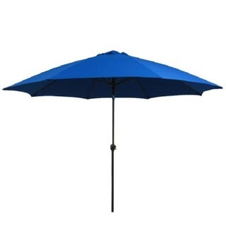Fiberglass Pacific Blue Poly Crank and Tilt 9-foot Umbrella