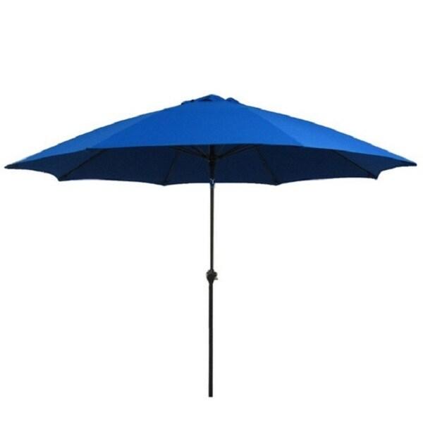 Fiberglass Pacific Blue Poly Crank and Tilt 9-foot Umbrella
