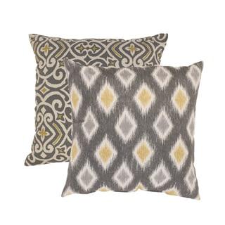 Pillow Perfect 'Damask' and 'Rodrigo' Square Throw Pillows (Set of 2)