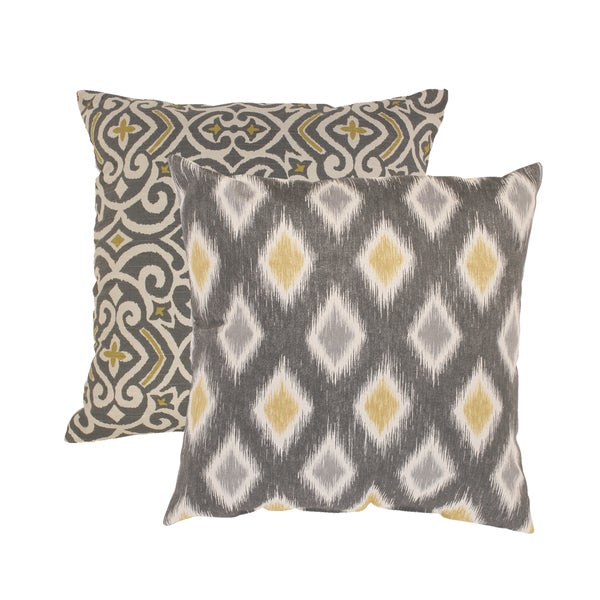 Pillow Perfect Damask And Rodrigo Square Throw Pillows
