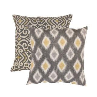 Pillow Perfect 'Damask' and 'Rodrigo' Square Throw Pillows (Set of 2)