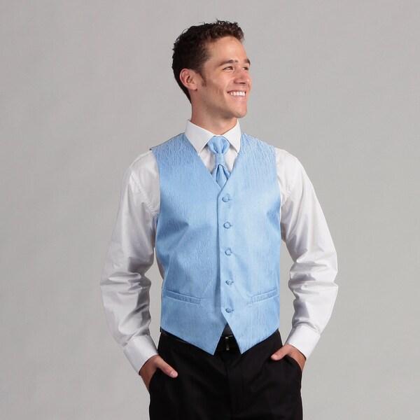 Ferrecci Men's 4-piece Sky Blue Vest Set