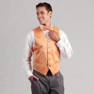 Ferrecci Men's Orange 4-piece Vest Set