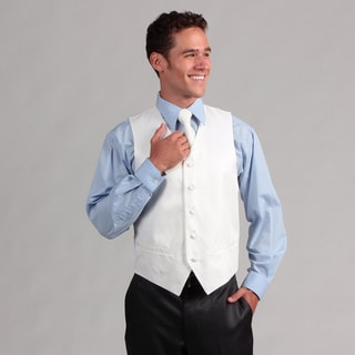 Ferrecci Men's White 4-piece Vest Set