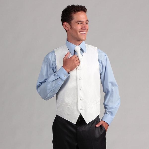 Ferrecci Men's White 4-piece Vest Set